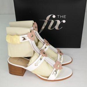The Fix Molli Sandals Sz 9.5 Bright White Triple H